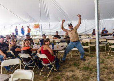 man dancing at Bikefest
