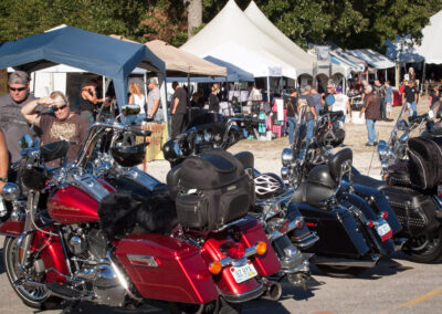 Bikes lined up at Vendors