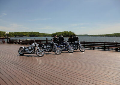 Bikers overlooking Lake of the Ozarks